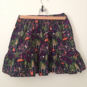 Lands End corduroy ruffle skirt size M (10/12)